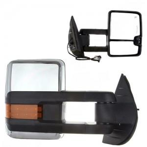 HF-7255 For ISUZU COLRADO towing mirror Electric Black Signal