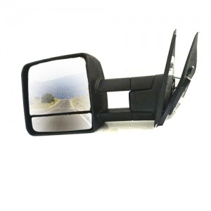 Hf-7301b For Toyota Landcruiser Towing Mirror Electric Black Signal